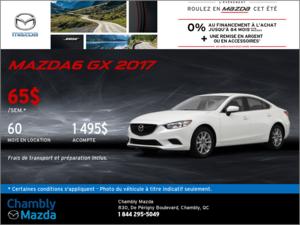 Offrez-vous la Mazda6 2017 en rabais!