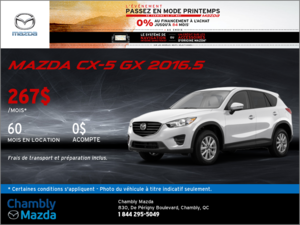 La Mazda CX-5 GX 2016.5
