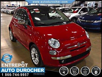 Fiat 500C LOUNGE AUTOMATIQUE TOUT ÉQUIPÉ CONVERTIBLE 2014