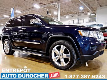2013 Jeep Grand Cherokee OVERLAND - 4X4 - AUTOMATIQUE - CUIR - TOI OUVRANT