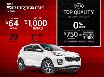 2018 Kia Sportage -- Lease it Today