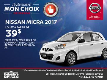 Nissan Micra 2017 en rabais!