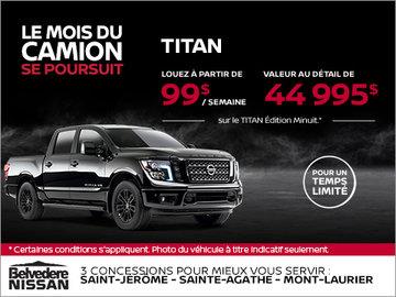 Obtenez le Nissan Titan 2018 dès aujourd'hui!