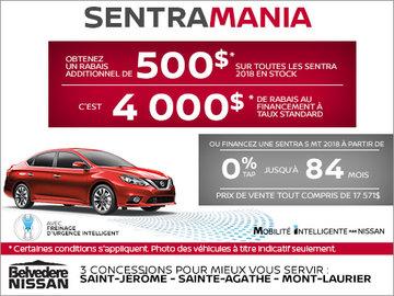 C'est l'événement Sentra Mania chez Nissan!