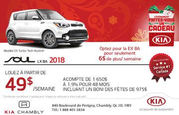 Procurez-vous la Kia Soul LX 2018