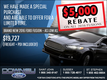 Save Big on the 2016 Ford Fusion