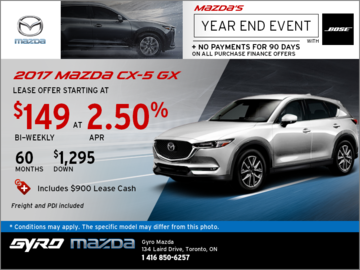 Get the New 2017 Mazda CX-5 GX Now!