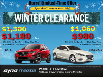 Gyro Mazda's Winter Tire Clearance Event