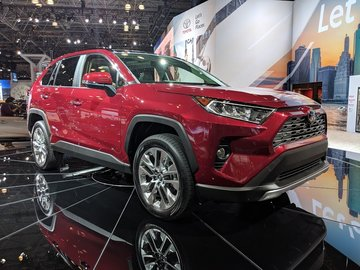 The 2019 Toyota RAV4 presented at the New York Auto Show this week