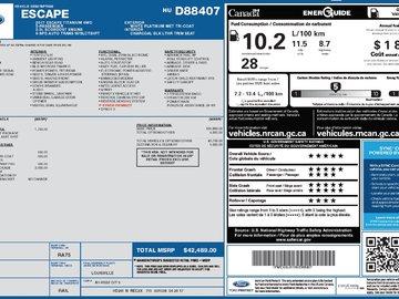 2017 Ford Escape TITANIUM - DUAL SUN ROOF / NAVIGATION / LEATHER