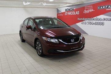 Honda Civic Sedan EX + TOIT + MAGS + CAMÉRA + SIÈGES CHAUFFANTS 2014