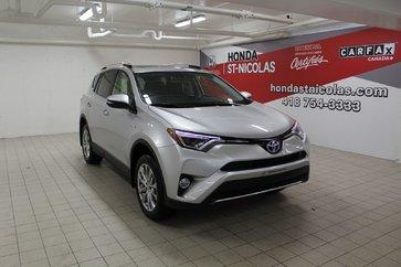 2016 Toyota RAV4 Hybrid Limited + GPS + CUIR + TOIT + CAMÉRA + EV MODE