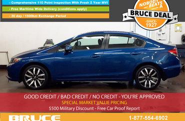 2013 Honda Civic TOURING 1.8L 4 CYL I-VTEC AUTOMATIC FWD 4D SEDAN   Photo 1
