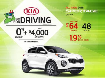 2018 Kia Sportage -- Lease it Today