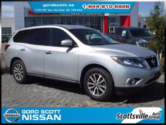 2014 Nissan Pathfinder S FWD, Cloth, Cruise, A/C, 7 Passenger