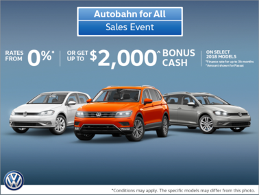 Autobahn for All Sales Event!