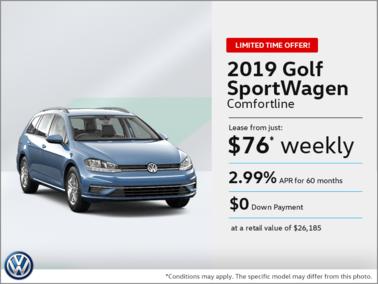 Lease the 2019 Golf SportWagen!
