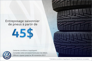 Entreposage des pneus à bas prix!