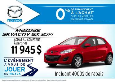 La nouvelle Mazda2 GX 2014 disponible à l'achat à  11 945$