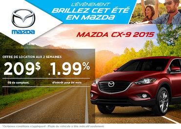 Le nouveau Mazda CX-9 2015 à 209$ aux 2 semaines