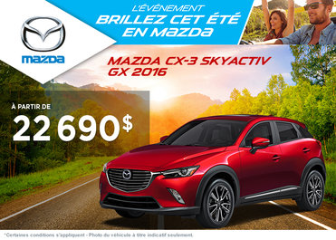Achetez le Mazda CX-3 2016 à partir de 22 690$