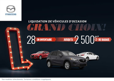 Liquidation des véhicules d'occasion