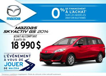 Achetez le Mazda5 GS 2014 à compter de 18 990$