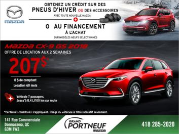 Obtenez la Mazda CX-9 2018 aujourd'hui!