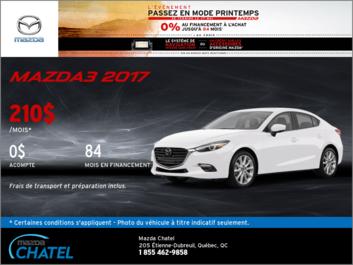 La toute nouvelle Mazda3 2017 en financement