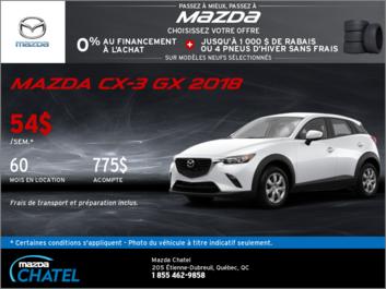 Le Mazda CX-3 GX 2018