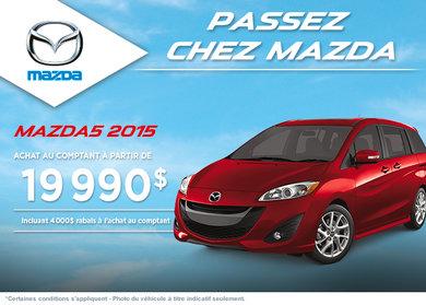 Achetez le Mazda5 GS 2014 avec rabais de 4000$
