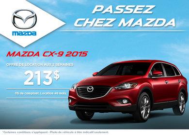 Le nouveau Mazda CX-9 2015 à 213$ aux 2 semaines