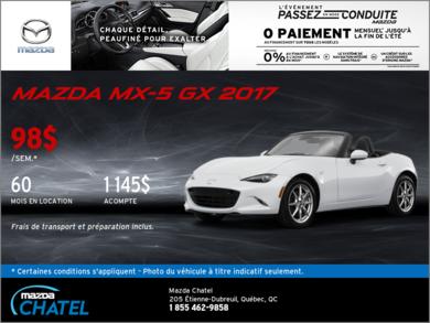 Louez la Mazda MX-5 2017 aujourd'hui!