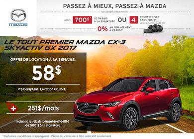 Le Mazda CX-3 2017 en rabais