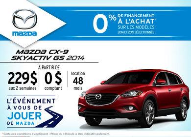 Le nouveau Mazda CX-9 en location à compter de 229$ aux 2 semaines