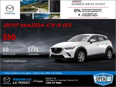 Get the 2017 Mazda CX-3!