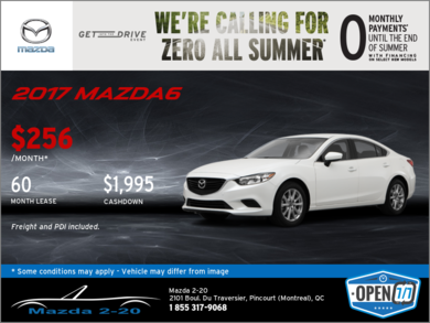 2017 Mazda6 - Get it Today!
