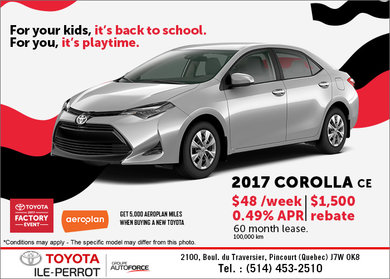2017 Toyota Corolla CE for Lease!