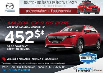 La toute nouvelle Mazda CX-9 GS 2016!