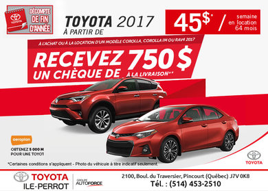 L'événement décompte de fin d'année chez Toyota!