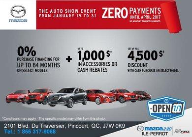 L'événement du Salon de l'Auto avec Mazda