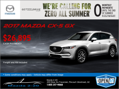 Get the 2017 Mazda CX-5 GX Today!