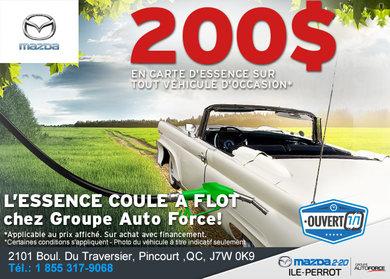 200$ d'essence à l'achat d'un véhicule d'occasion!