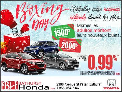 Le tout premier Boxing Month chez Honda!