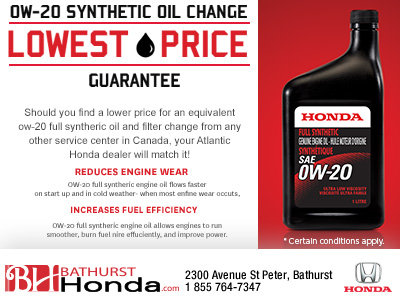 Lowest Price Guarantee on Your Next Synthetic Oil Change