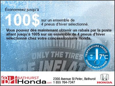 Changez vos pneus chez Bathurst Honda