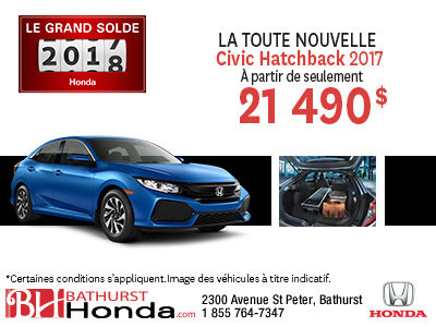 Obtenez la toute nouvelle Civic Hatcback