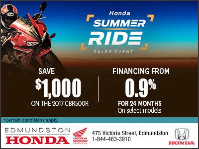 Edmundston Honda's Summer Ride Sales Event