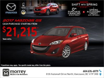 Get the 2017 Mazda5!