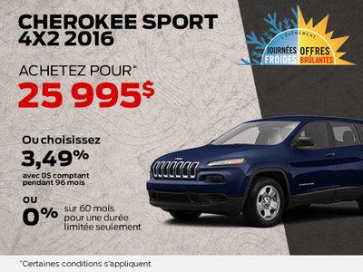 Cherokee sport 4x2 2016 à 25 995$